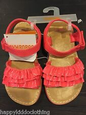 GYMBOREE sandals shoes size 10 New ruffle patent coral pink dress shoe 26.95 dup
