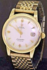 Omega Seamaster Calendar vintage 14K gold automatic waterproof men's watch