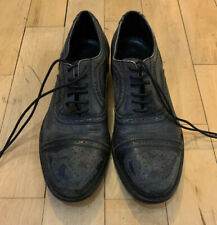 Mens Distressed Rogue Shoes Size 10 Black Brown