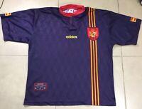 Men's Adidas SPAIN NATIONAL TEAM Sz L 1996/1998 Soccer FOOTBALL SHIRT JERSEY