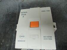 BENSHAW CONTACTOR RSC-150 600V 210A 100HP NEMA SIZE:4 **WARRANTY INCLUDED**