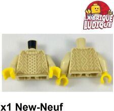 Lego 1x minifig torso torse pull marin laine sweater beige/tan 973pb2834c01 NEUF