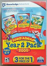 JUMP AHEAD YEAR 2 PC CD-ROM TRIPLE DISK SET new inc. MATHS & READING AGES 6-7 UK