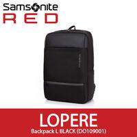 """Samsonite RED 2018 LOPERE Backpack L 15.6"""" Laptop Tablet EMS 30x10x46 cm Black"""