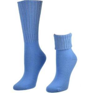 Solid Color Ribbed Crew Turn cuff Soft Acrylic Socks