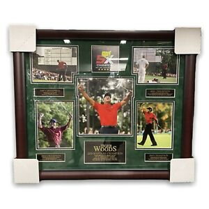 Tiger Woods Masters Unsigned Collage With Every Win Framed To 20x24 Augusta