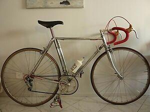 vintage velo  LEJEUNE  CHROME  ANNEE 72  & maillot  LEJEUNE ( peugeot  colnago)