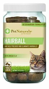 Pet Naturals Hairball, Daily Digestive, Skin & Coat Support for Cats, 160 Chews