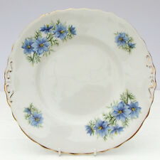 Vintage Colclough Bone China Cornflower Blue Floral Cake Plate