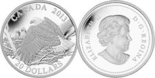 2013 ROYAL CANADIAN MINT BALD EAGLE PROTECTING HER EAGLETS $20 FINE SILVER COIN