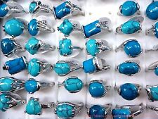 US SELLER  wholesale 10  fashion rings with embedded turquoise stone