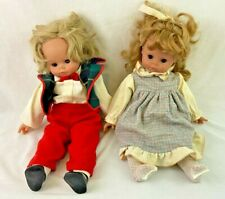 """Vintage Boy & Girl Doll Made In Italy 18"""" Clothing"""