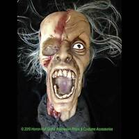 Realistic Life Size Zombie SHRUNKEN SEVERED HUMAN HEAD Haunted House Horror Prop