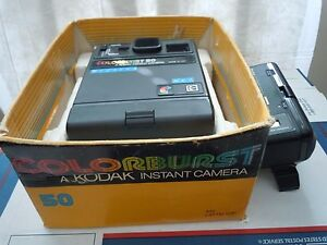 1980's Kodak Instant Colorburst 50 Camera with electronic flash in box
