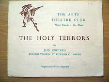 .1950s Arts Theatre Club Programme: THE HOLY TERRORS by Jean Cocteau
