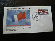 FRANCE - enveloppe 21/12/1990 27e congres du PCF (cy7) french (U)
