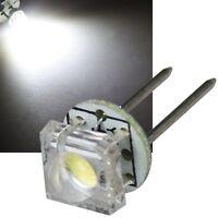 5x LED Stiftsockellampe G4 WEIß 17lm 12V 0,5W SuperFlux LEDs, Deko-Beleuchtung