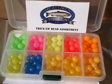 Trick Em Fish Beads Super Uv 10mm Assortment, 10 Colors with Great Box