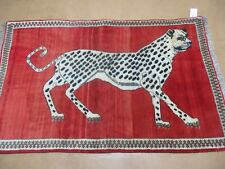 "3' 6"" X 5' 7"" Persian KASHKULI Gabbeh Hand Made ZAGROS Wool Rug Iran PANTER # 46"
