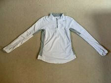 Nike Dri Fit ladies running sports long sleeve top | white/grey | small