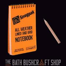 SNUGPAK A6 ORANGE ALL WEATHER WATER RESISTANT GRID & LINED NOTEBOOK NOTEPAD