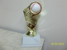 "baseball award or trophy, with engraving, about 6.5"" tall, for boys or girls"