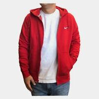 Nike Men's Sportswear Club Fleece Full Zip Red Hoodie (823531-658) S/M/L/XL/XXL