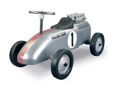 Retro Roller Rutscher aus Metall silber Rennwagen Design Racing Team 706119