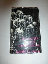 Thoughts and Meditations by Kahlil Gibran 1st/1st Ed.~1996 Hb 179