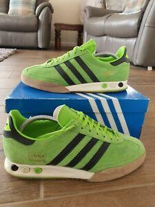 Adidas Super Kegler Green UK size 10 exclusive large still in box 9/10