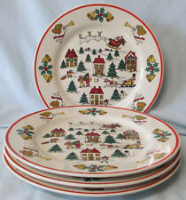 Jamestown China The Joy of Christmas Dinner Plate, Set of 4