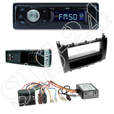 Caliber RMD021 Radio + Mercedes C-Kl. (W203) ab 04 Blende schwarz + ISO Adapter