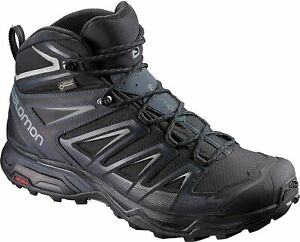 Salomon Men's X Ultra 3 Mid GTX Hiking Boots - Black - Choose Size