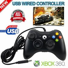 USB Wired Xbox 360 Game Remote Controller for PC Computer Window Black OY