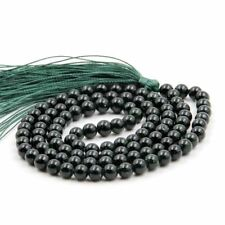 Obsidian Necklace pray mala Sutra Buddhism chain Bless Wristband Meditation