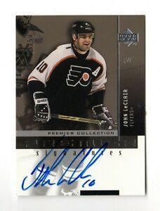 JOHN LeCLAIR NHL 2002-03 UD PREMIER COLLECTION SIGNATURES GOLD #/50 (PENGUINS)
