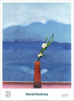 David HOCKNEY Mount Fuji and Flowers Poster 34 x 25