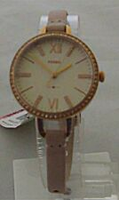 Fossil - Ladies Annette Blush Leather Strap Watch - ES4402