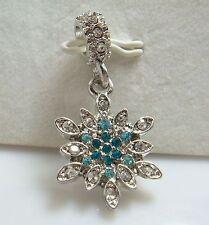 European Silver Charm Bead Fit sterling 925 Necklace Bracelet Chain US al21