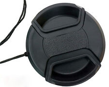 52mm Center Front Snap on Lens cap cover for Canon EOS EF DSLR DC + Leash 52 mm