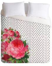 Deny Designs Floral Polka Dots Lightweight Pink Flower King Duvet/Shams Set Nwop