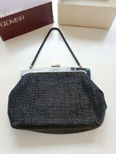 Vintage Black and Gold glo international Mesh Handbag - With Glomesh Box