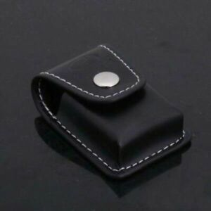HOT Black Case Leather Cases Clip-On Lighter Flips Sheath Pouch Case Holder UK*