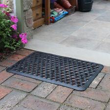 Home outdoor dirt barrière porte tapis entrée lien boue grattoir en nid d'abeille design pvc