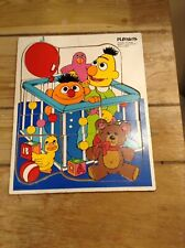 Vintage Playskool Wood Puzzle Bert & Ernie #315-25 VGC