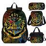 Vintage Harry Potter Hogwarts Backpack Insulated Lunchbox Sling Bag Pen Case Lot