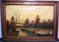 Early to mid 19th C Oil Painting Landscape