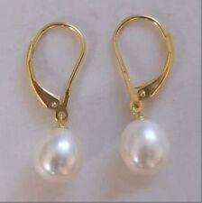 fashion schöne 5-8mm Teardrop weißen Süßwasserperlen Ohrringe