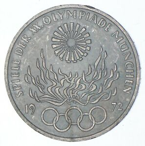 SILVER - WORLD Coin - 1972 Germany 10 Marks - World Silver Coin *974