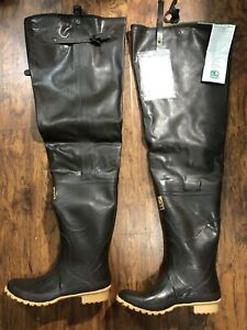 Hodgman Rubber Cleated Hip Wader Boots Men's Size 11/44 Insulated